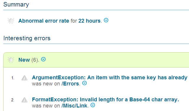 Highlight interesting errors!