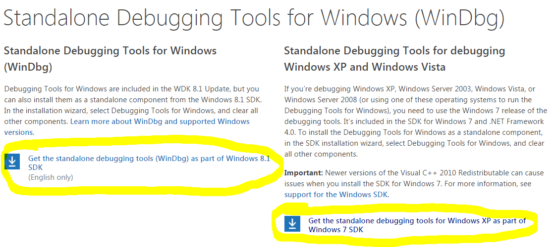 Download Windows Debugging Tools
