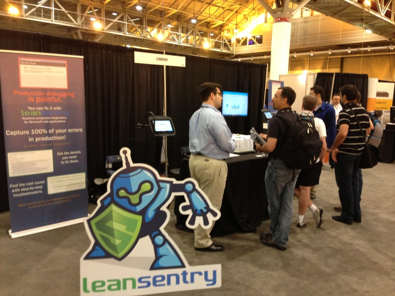 The LeanSentry TechEd booth